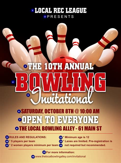 bowling league flyer ticketprinting com