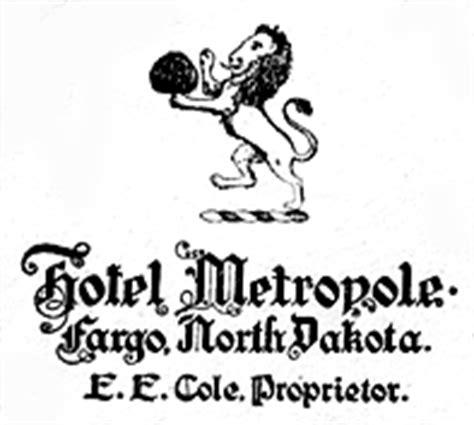 Key Bank Letterhead Metropole Hotel Fargo History