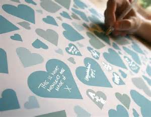 personalised wedding hearts signature print by modo