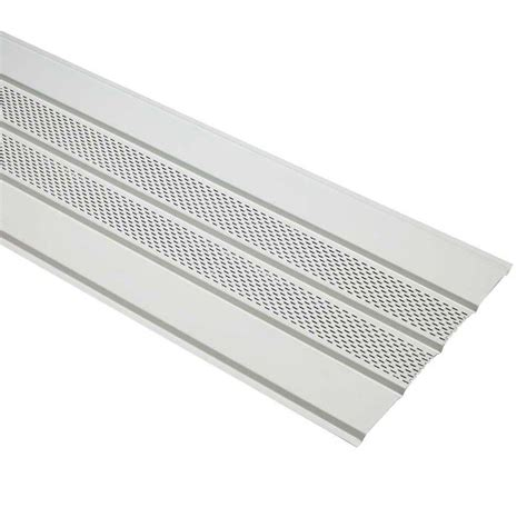 cellwood economy 4 in white vented vinyl soffit