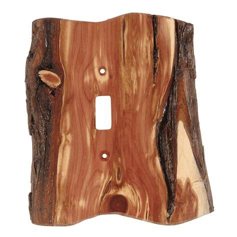 rustic juniper wood switch covers