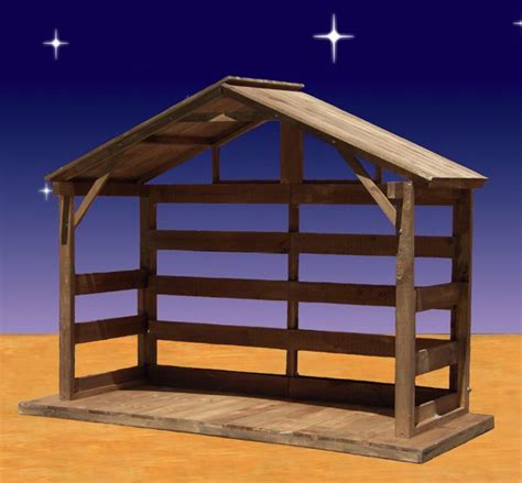 blow mold nativity barn images property  christmas