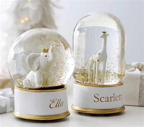 snow globes giraffe elephant snowglobes pottery barn