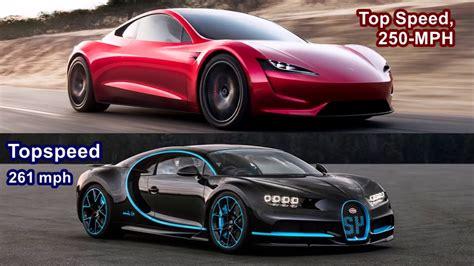 2020 Tesla Roadster 0 60 by Tesla Roadster 2020 Vs Bugatti Chiron 2018 Top Speed