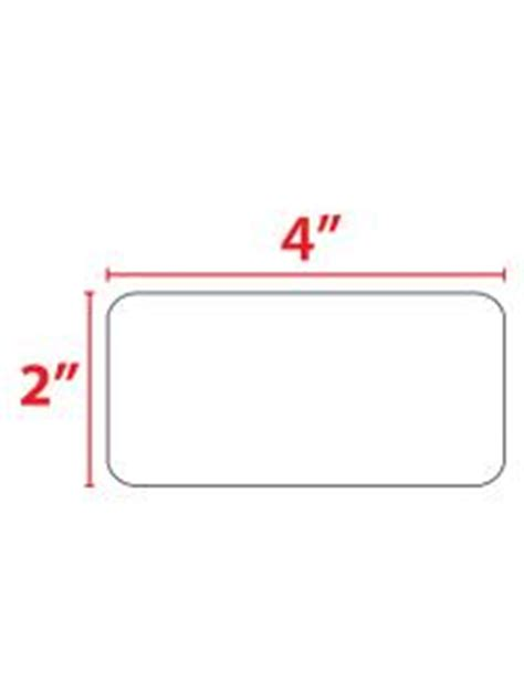 4x2 card template 4 x 2 quot thermal transfer label roll