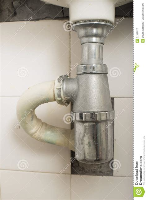 bathroom pipes sink and pipes royalty free stock photography image