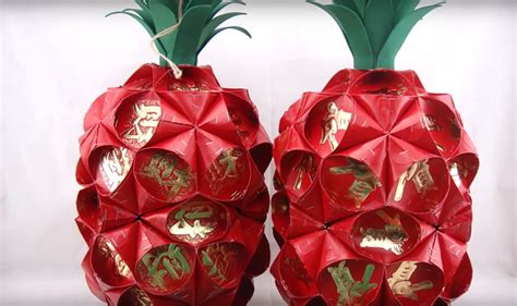 how to make new year lanterns with packets cny decor pineapple lantern made with packets