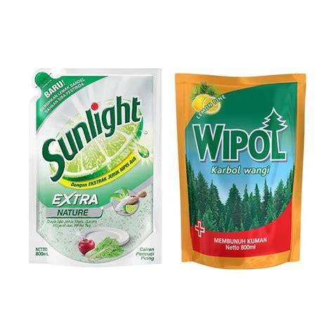 Wipol Karbol Lemon 800 Ml jual sunlight nature refill cairan pencuci piring