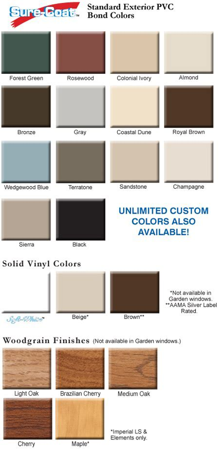 vinyl window colors colored and brown vinyl windows window color choices