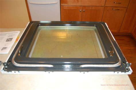 Cleaning Oven Glass Door Cleaning Between The Glass Of An Oven Door Frigidaire Jim Carson