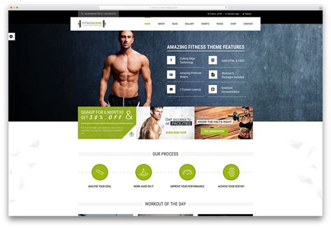 35 Best Wordpress Fitness Themes 2018 For Gym And Fitness Centers Colorlib Fitness Website Design Templates