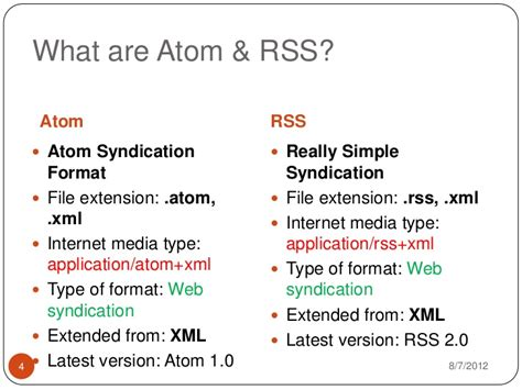format file in atom atom and rss