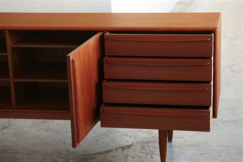 low credenza low teak credenza by dyrlund at 1stdibs