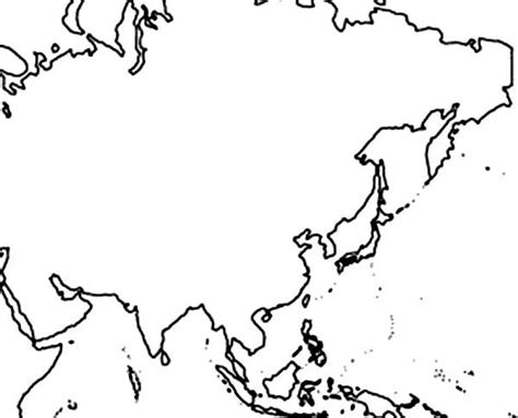 asian world map coloring page download print online