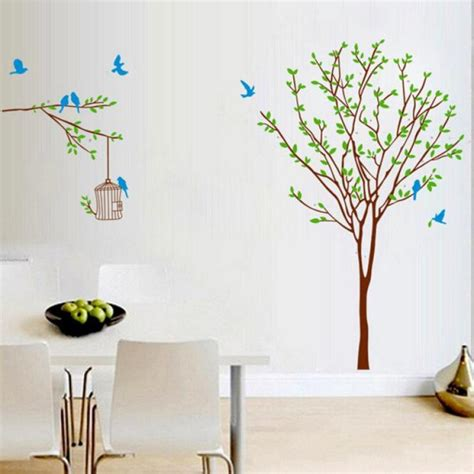 diy branch birdcage tree removable mural wall