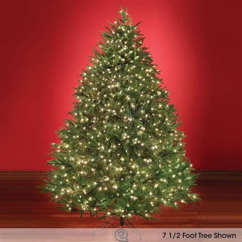 best artificial christmas trees the world s best prelit fraser fir 7 5 full led