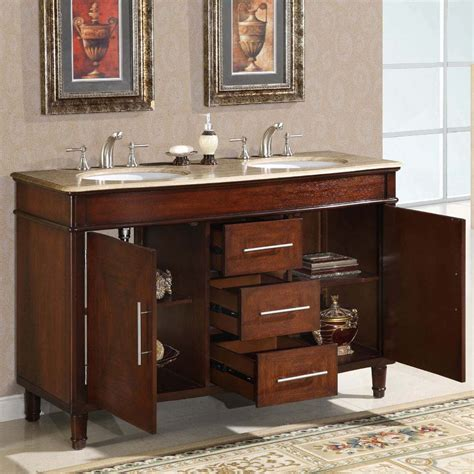 55 inch double sink bathroom vanity silkroad exclusive hyp 0222 t uwc 55 55 inch double sink