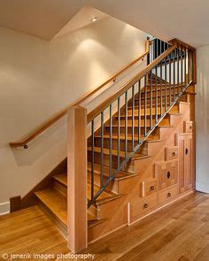 define banister stair railings for open stairs to basement basement