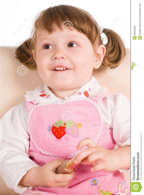 little girls sofa little girl on a sofa royalty free stock photography