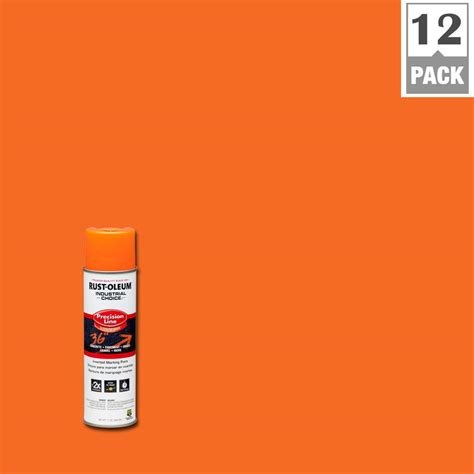 rust oleum industrial choice 17 oz apwa orange inverted