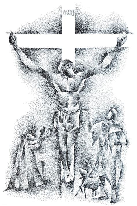 jesus christ crucifixtion drawing drawing by murugenderan s