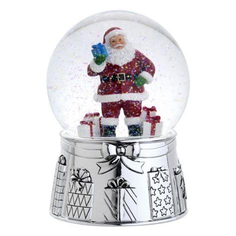 reed barton 5063 classic santa snow globe 5 75 inch
