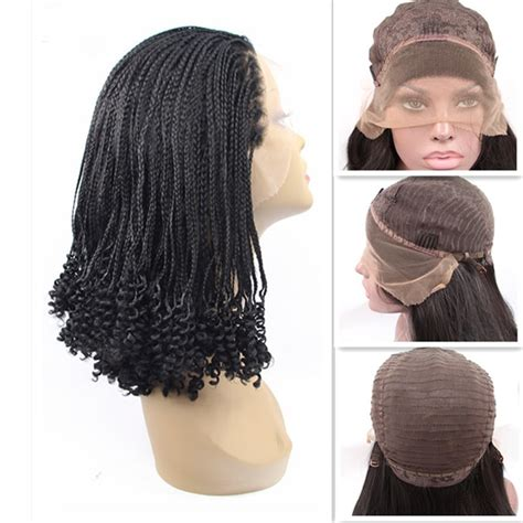 wigs made for black people that are braided handmade black braided wig made with premium synthetic