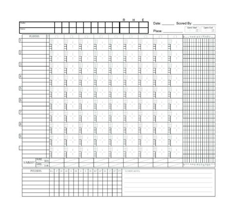 softball scorecard template softball scorecard template image collections template