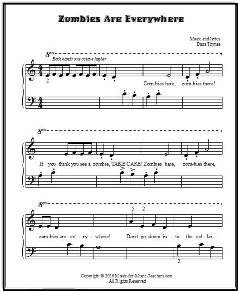tutorial piano zombie 85 best images about music on pinterest sheet music