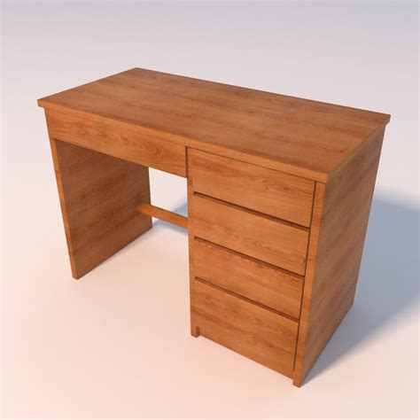 Small Wood Desks 3ds Max Small Wooden Desk