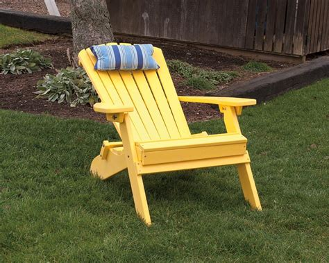 Amish Made Poly Wood Adirondack Chairs Reclining And Folding Poly Outdoor Furniture