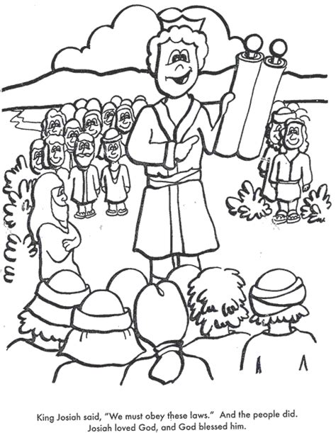 coloring pages jesus reading scroll bible coloring pages king josiah cut the ropes of