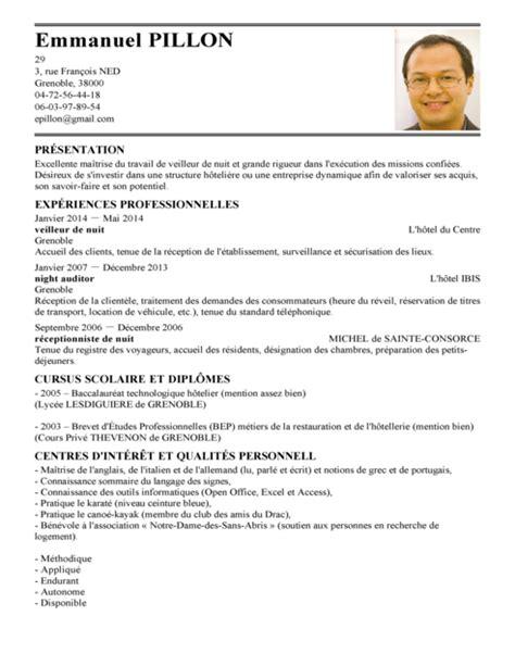 Lettre De Motivation De Maitre D Hotel modele cv directeur hotel cv anonyme