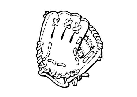 coloring pages free printable baseball baseball mitt cliparts co