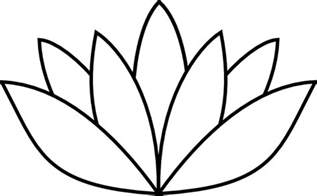 Lotus Outline Picture Lotus Flower Outline Clip At Clker Vector Clip