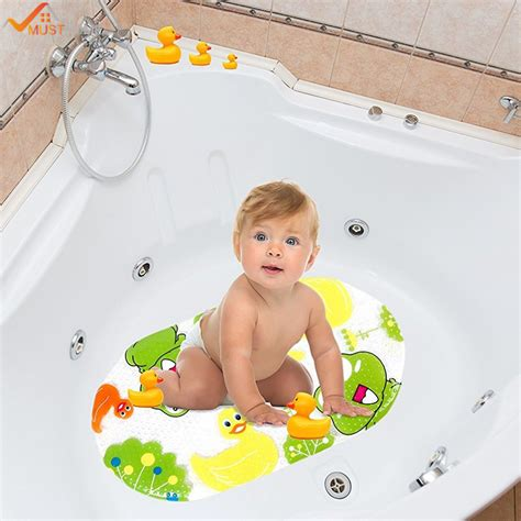 baby bathtub mat 39cmx69cm cartoon baby bath mat non slip for kids anti