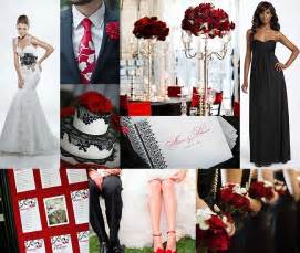Red Black And White Wedding Red White And Black Wedding Theme