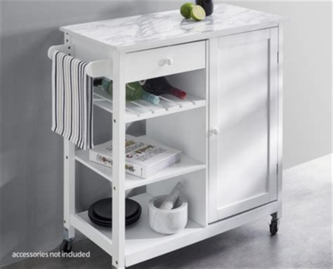 Kitchen Island Trolley Perth Wa Calcutta Marble Kitchen Trolley Aldi Australia