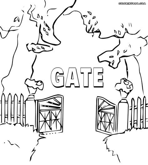 gate coloring coloring pages