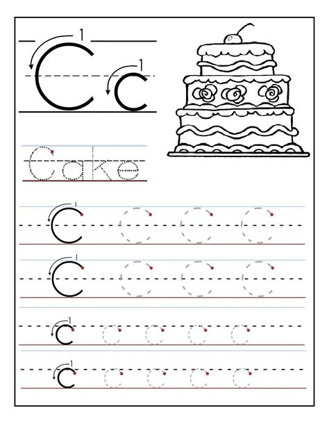 Letter Activity Trace The Letter C Worksheets Activity Shelter