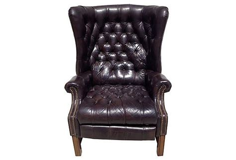 leather wing back recliner leather wingback recliner