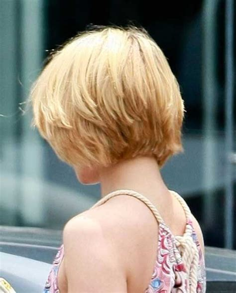 rear view hairstyles gallery beautiful short layered bob hairstyles