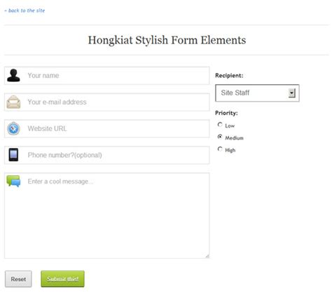 tutorial css form design get your form on modern web forms tutorials