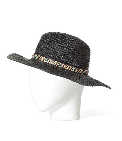 zara straw cowboy hat in black lyst