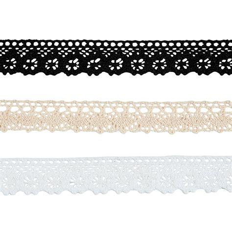 Ribbon Lace neutral lace ribbon 3 pack ribbon scrapbooking supplies