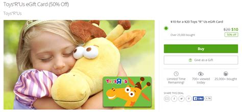 Toys R Us Printable Gift Card - ymmv groupon 20 toys r us giftcard for 10 doctor of credit