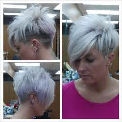 funky hairstyle for silver hair salon hair archives wehotflash