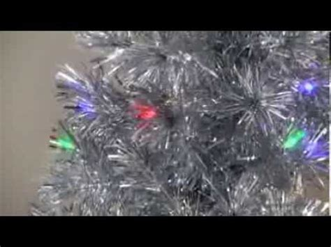 fibre optic christmas tree silver silver clover medium fiber optic pre lit tree 5 ft multicolor product review