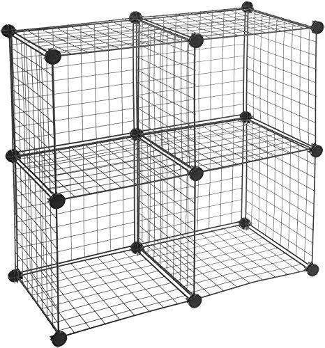 amazonbasics 4 cube wire storage shelves black import