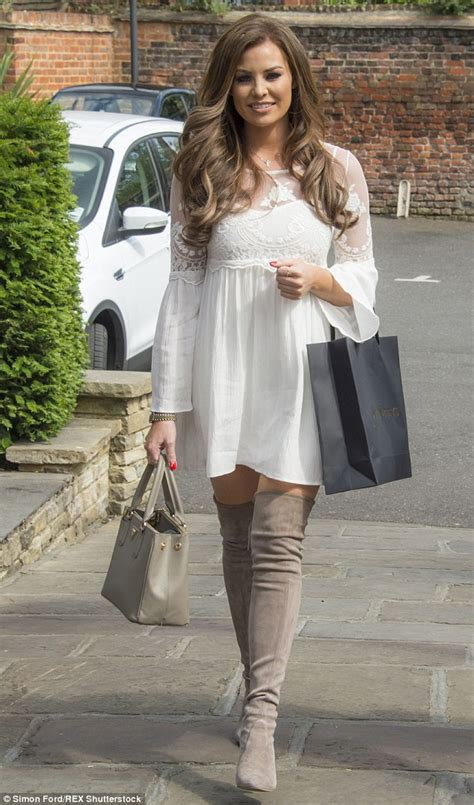 towie s wright in thigh high boots and white mini
